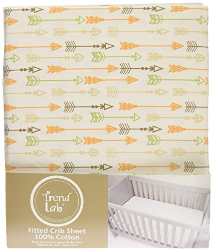 Trend Lab Deer Lodge Arrow Fitted Crib Sheet Cream