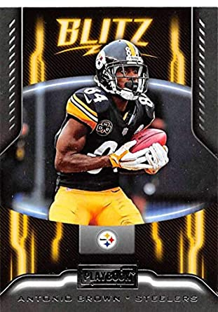 1a9d3496d35 2018 Playbook BLITZ Football  1 Antonio Brown Pittsburgh Steelers Official  NFL Card Produced by Panini