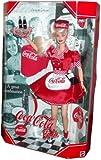 BARBIE poupée blonde COCA COLA - robe rouge et blanche serveuse plateau et hamburger - collector edition mattel 1998