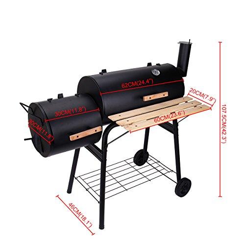 Ridgeyard Backyard Charcoal Barbecue Grill BBQ Offset