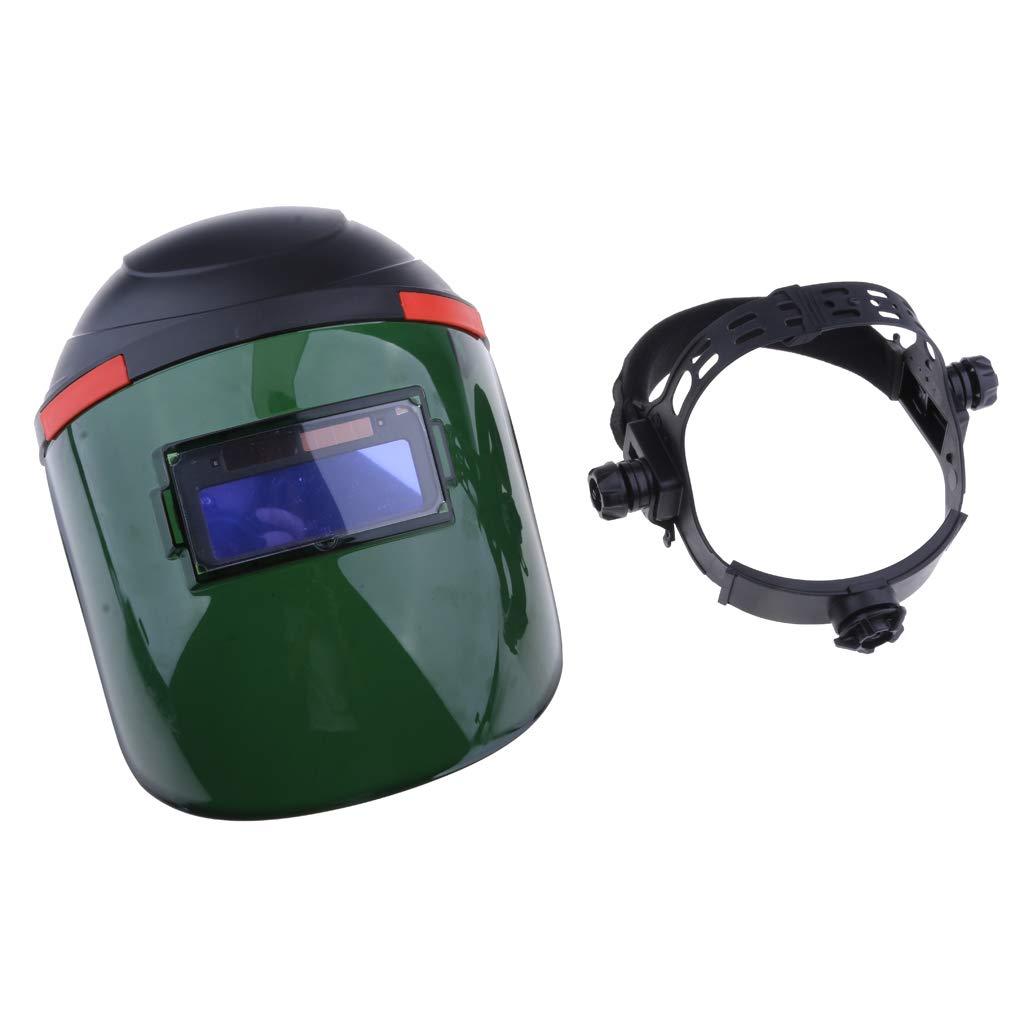 Flameer Welding Equipment Eye Face Head Protection Engineering Plastic Mask with Helmet - B