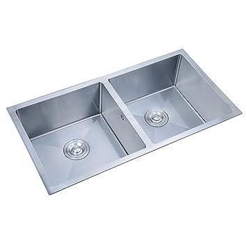 Lavandino Domestico Cucina Lavello in Acciaio Inox Servizio ...