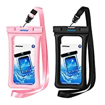 Mpow Floatable Waterproof Case, Waterproof Cell Phone Bag for Swimming, Snowshoeing, Skiing, Skating, Sledding, Ice Fishing, Kayaking Universal Waterproof Cell Phone Pouch for iPhone XS/XS Max/XR/X, iPhone 8/8 Plus/7/7 Plus/6/6s, Samsung Galaxy S9/S8/S7 Google Pixel and All Devices Up to 6 Inches