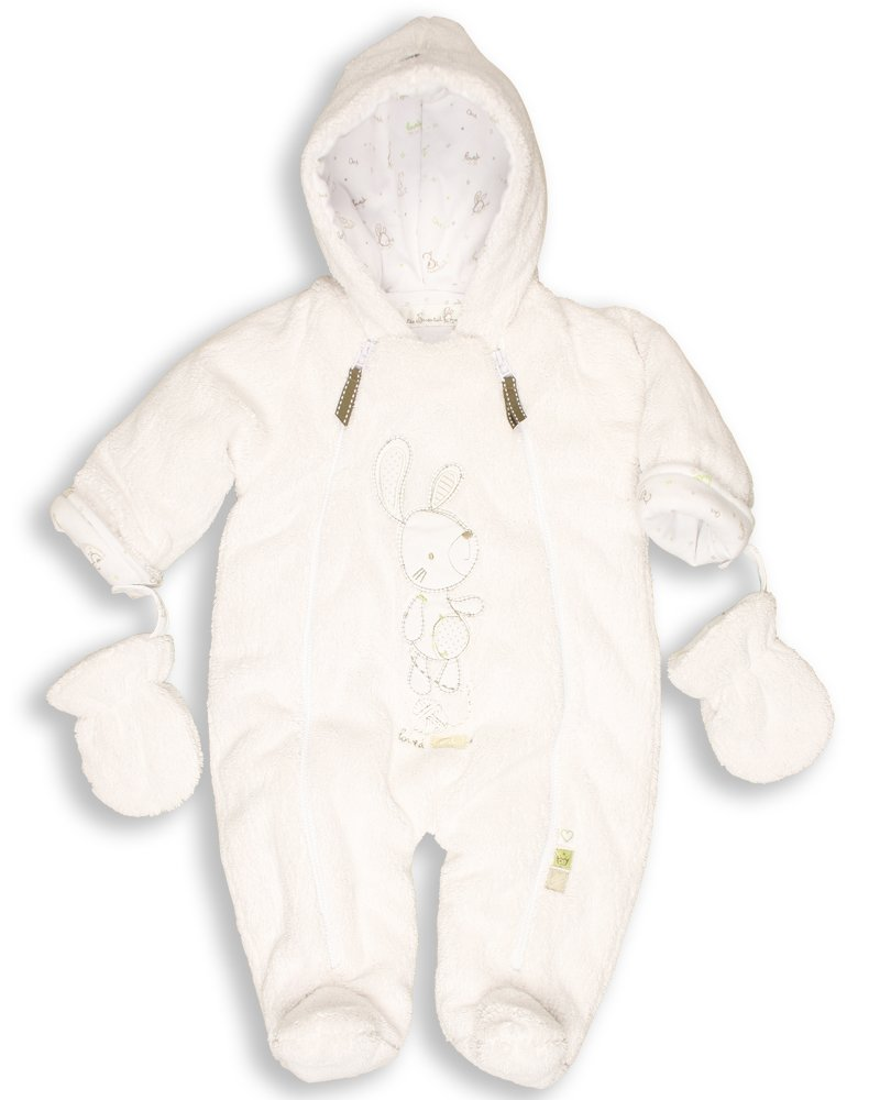 The Essential One - Baby Unisex Fur Snowsuit/Pramsuit - White - EO1