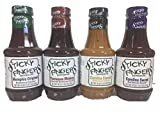 bullfrog bbq sauce - Sticky Fingers BBQ Sauce Variety Pack of 4 - Memphis Original, Tennessee Whisky, Carolina Classic, and Carolina Sweet,