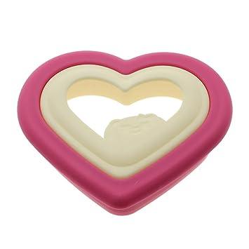 Navidad Pan Moldes Desayuno Sandwich Corazón de forma Cutter Fiesta DIY Moldes para cortar galletas Galletas Formas: Amazon.es: Hogar