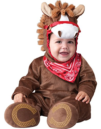 InCharacter Baby Boy's Playful Pony Costume, Brown, Large (Infant Horse Costumes)