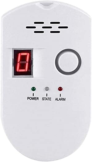 Natural Gas Detector Home Gas Alarm Gas Leak Detector High Sensitivity LPG LNG Coal Natural Gas Leak Detection Gas Leak Alarm Monitor Sensor