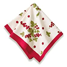 Couleur Nature Gooseberry Red/Green Napkins, 19x19, Set of 6