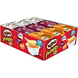 Pringles Snack Stacks! Pizza, BBQ and Cheddar Cheese, 18 Count Potato Crisps Chips, 13.3 Ounce (Pack of 4)