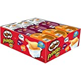 Pringles Snack Stacks! Pizza, BBQ and Cheddar Cheese, 18 Count Potato Crisps Chips, 13.3 Ounce