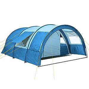 51rvVlUNeOL. SS300 CampFeuer Tunnelzelt Multi Zelt für 4 Personen | riesiger Vorraum, 5000 mm Wassersäule | mit Bodenplane und versetzbarer…