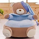 Baby Chair Bean Bag Christmas Elephant Feeding Chair Children Seat Sofa for Kids Sleeping Bed Baby Nest Chair Beanbag Plush Toys (Blue Bear)