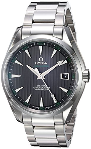 Omega-Mens-Seamaster150-Swiss-Automatic-Stainless-Steel-Dress-Watch-ColorSilver-Toned-Model-23110422101001