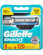 Gillette Mach3 Razor Cartridges Refill, 8ct