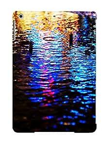 ReU217wzcqO Streets Lights Wet Pavement Bokeh Reflections Fashion Tpu Case Cover For Ipad Air, Series