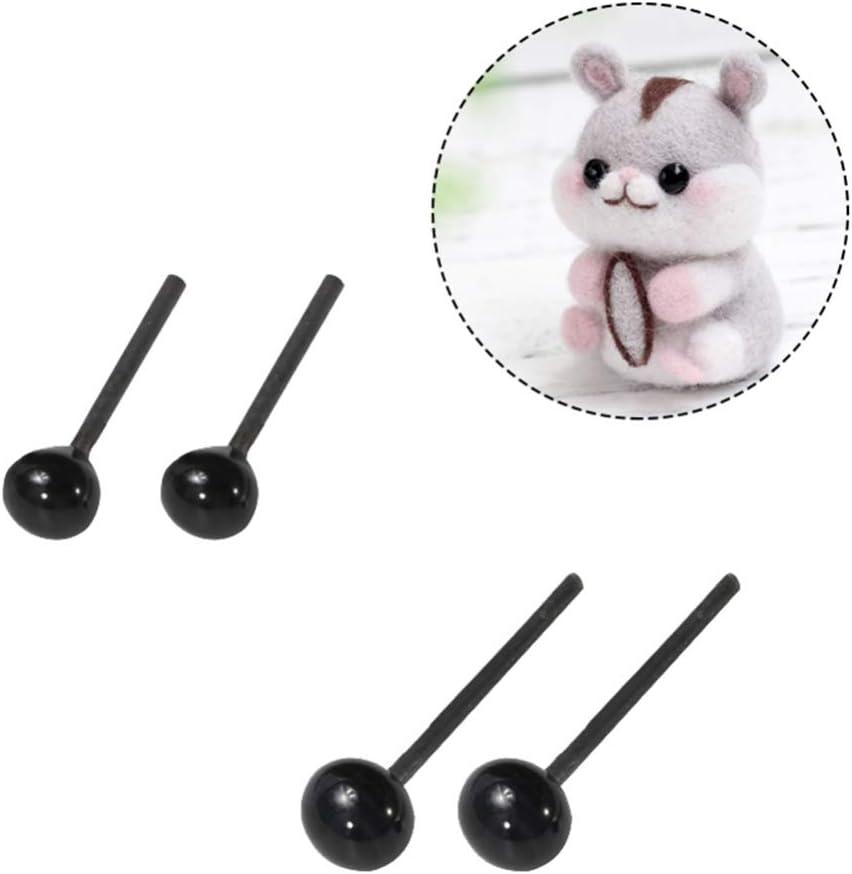animales SUPVOX Ojos de seguridad de vidrio para mu/ñeca Tama/ño 2 mm + 3 mm + 4 mm, 50 pares para cada tama/ño cachorro peluche