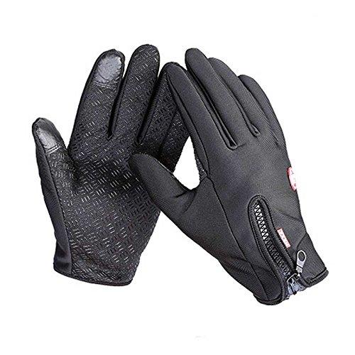 Beautyrain Invierno de esquí de invierno guantes calientes Bicicleta de la motocicleta táctil unisex al aire libre Driving_Gloves Tocar al aire libre unisex de los hombres Mujer Forfar