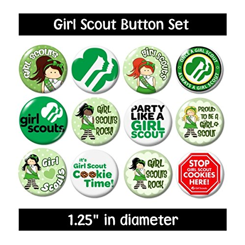 GIRL SCOUT BUTTONS pins badges scouting cookies (Troops Button)