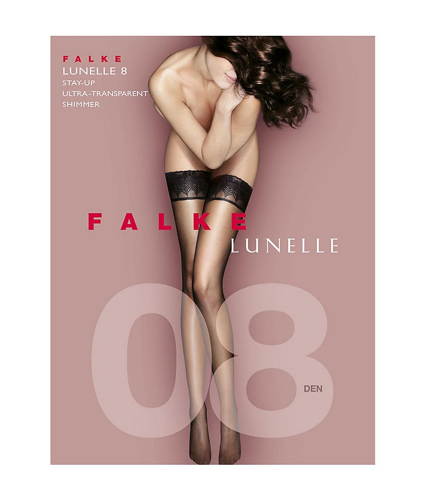 Falke Lunelle Thigh Highs, Small, Black