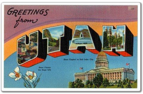Greetings from Utah Vinyl Sticker - Car Phone Helmet - SELECT SIZE