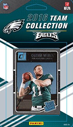 (Philadelphia Eagles 2016 Donruss Factory Sealed Team Set with Carson Wentz Rookie card, Ron Jaworski, Zach Ertz plus)