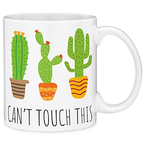 Mugvana 11oz Coffee Mug Can't Touch This Cactus Funny Novelt