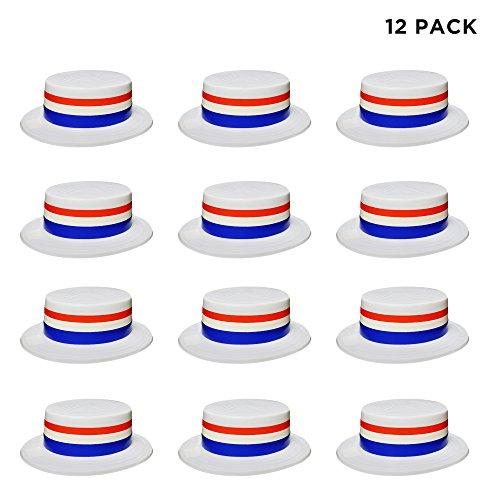 Windy City Novelties 12 Pack Patriotic Hats for Men Women Kids Bulk ()