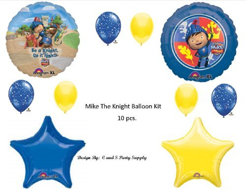Mike The Knight Birthday Balloon Kit Birthday Decorations Supplies Dragon Nick Jr.