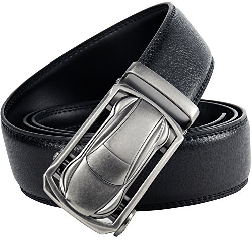 (Mens Ratchet Belt, Leather Belts for Men with Designer Golf Reversible Dress Belt (28
