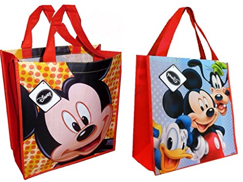 Disney Mickey Mouse and Friends Reusable Tote Bags, 2pack (Halloween Disney Land)