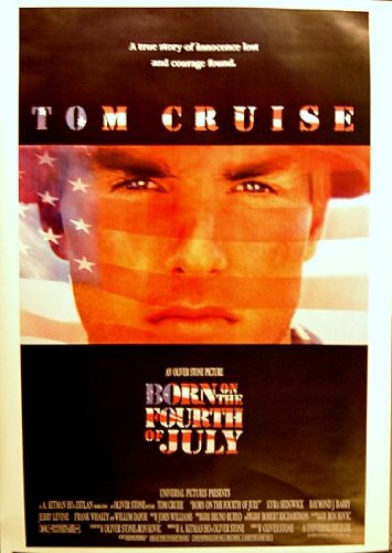 Born on the Fourth of July Movie Poster (27 x 40 Inches - 69cm x 102cm) (1989) -(Bill Allen)(Tom Cruise)(Kyra Sedgwick)(Raymond J. Barry)(Jerry Levine)(Tom Berenger) (Tom Berenger Born On The Fourth Of July)
