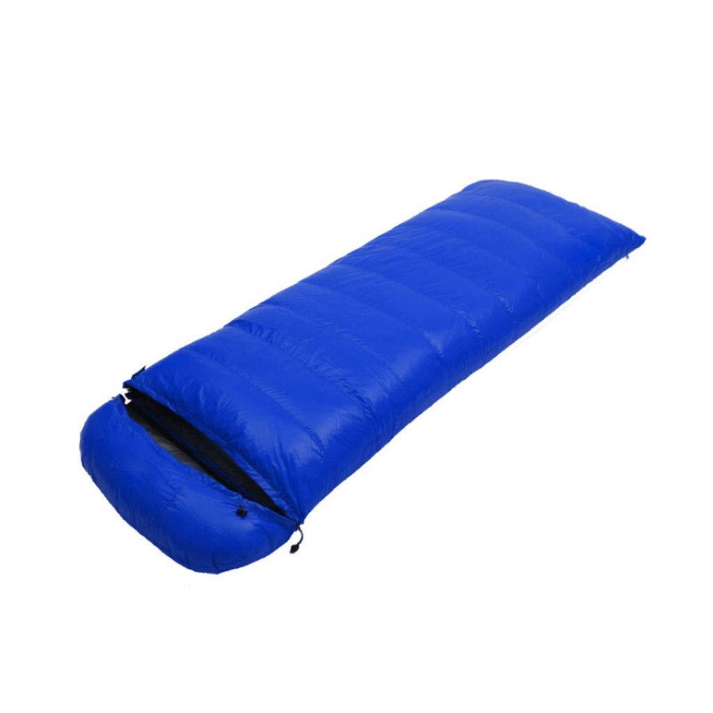 Bleu 0.8kg DGB Type D'enveloppe Adulte Randonnée Pédestre Camping Sac De Couchage Imperméable Ultra Léger en Duvet De Canard