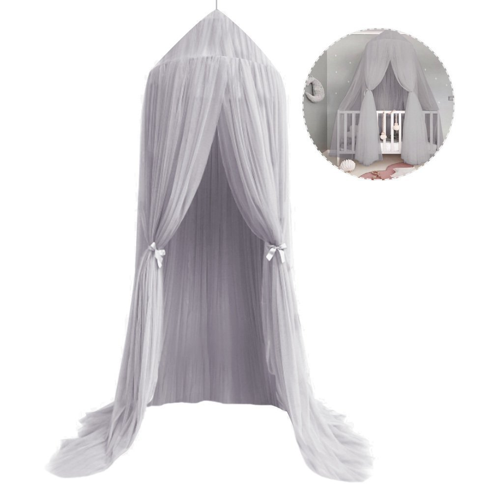Mosquito Net Canopy Pink High Density Polyester Grenadine Dome Princess Dreamy Bed Tents for Childrens Reading Play Indoor Games House Kids Room Decorate