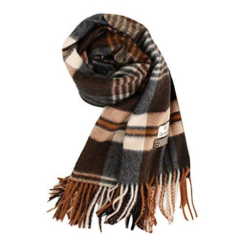 Price comparison product image Rebecca Women Winter Thick Scarf Plaid Neck Wrap Indoor Shawl Blanket,  Khaki