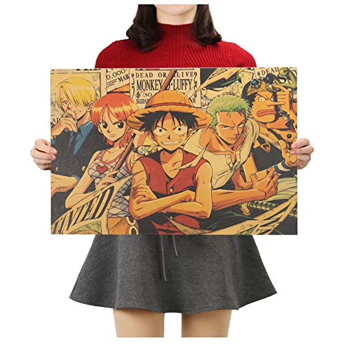 NatureMort One Piece Classic Anime Decorative Painting Kraft Paper Bar Wall Poster 20