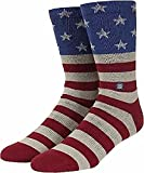 Stance Men's The Fourth Crew Sock, Red, Sock Size:10-13/Shoe Size: 6-12