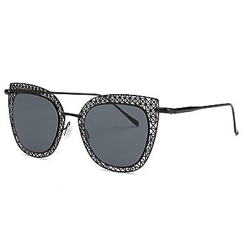 YANKAN Lentes Gafas de Sol-Resina-Metal Perforado con Ojo de ...
