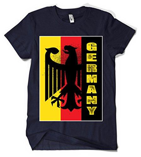 Cybertela Germany Coat of Arms Flag Men's T-shirt