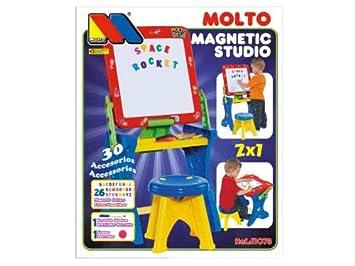 MOLTO- Pupitre Magnético con Letras y Rotuladores, (11073)