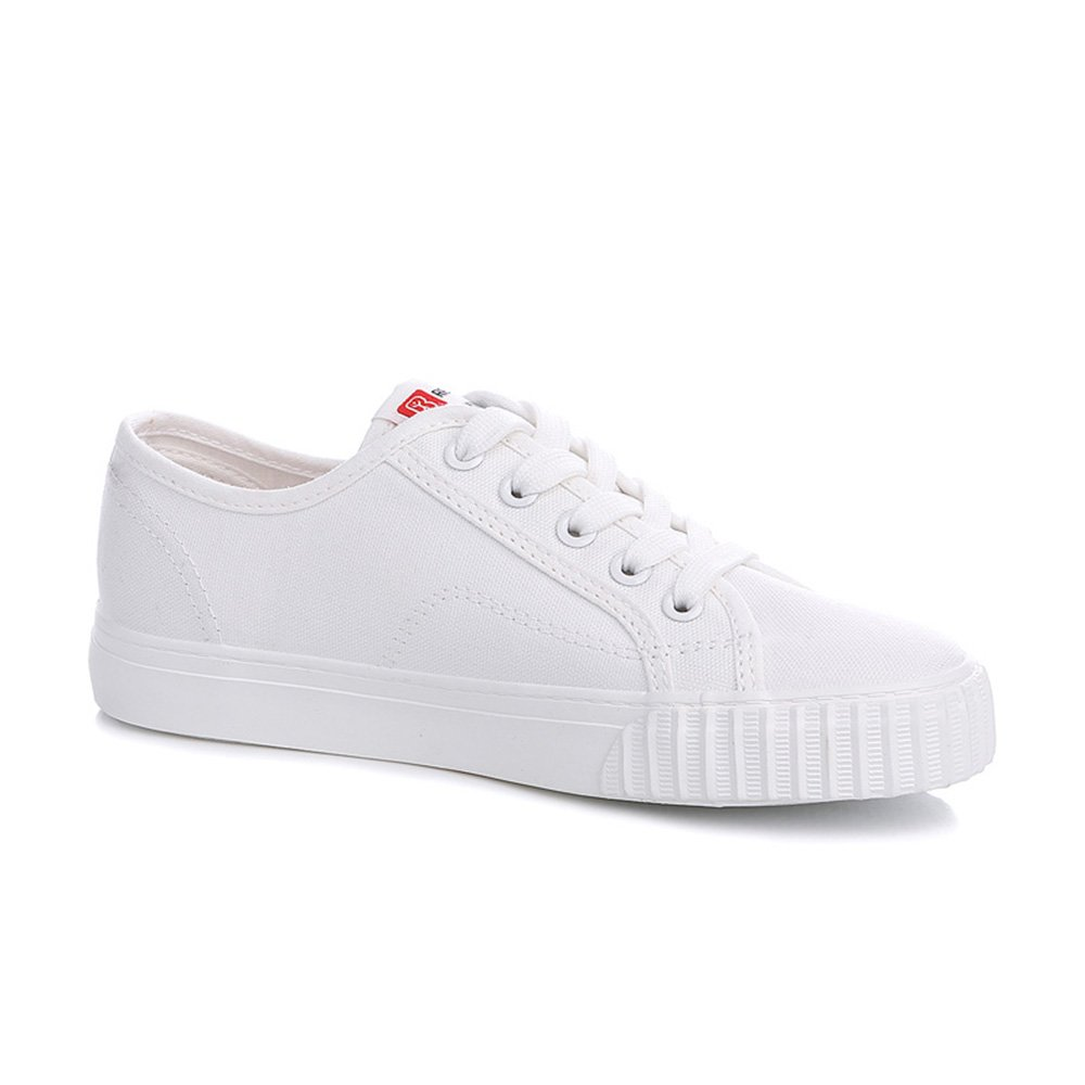 Renben Womens Canvas Shoes Flat Low Top Lace up Casual Slip On Sneakers