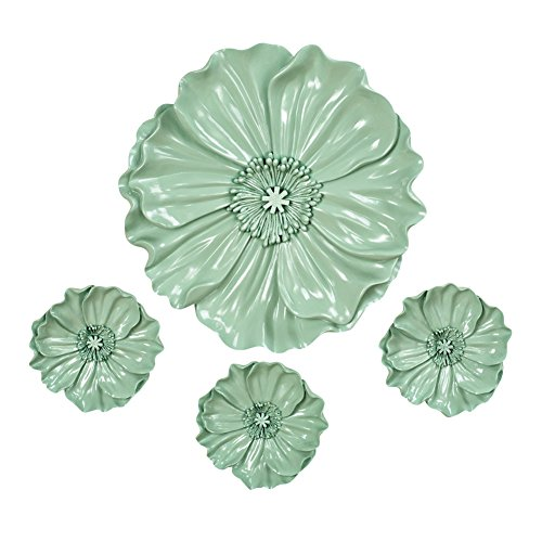 Floral Resin Wall Art Green