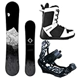 System MTN and APX Complete Men's Snowboard Package (163 cm Wide, Boot Size 13)