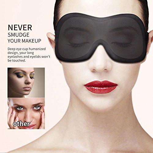 Higher Invisiable Nose Alar AMTOOCH Sleep Mask 3D Contoured Soft Eye Masks Adjustable Strap Great for Travel, Shift Work, Nap, Meditation & Sleeping Aid by AMTOOCH (Image #3)