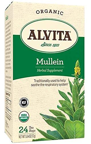 Alvita Tea Mullein Leaf Tea Organic - 24 Bag - Teas (Pack of (Alvita Teas Mullein Leaf Tea)