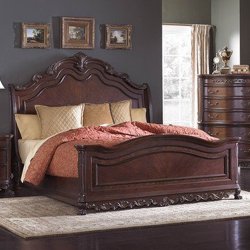 (Homelegance Deryn Park Sleigh Bed In Cherry -)