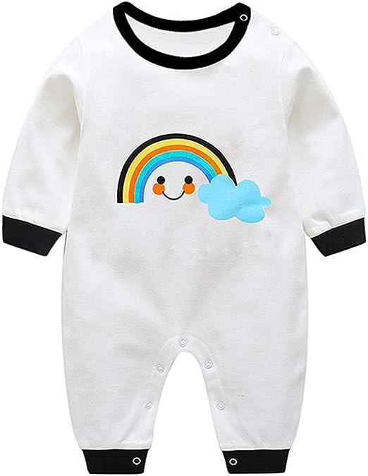 FBGood Pijama para bebé niña de algodón de Manga Larga, Pijama de una Pieza de algodón de otoño de Manga Larga para niño y niña, Blanco, 59: Amazon.es: Hogar
