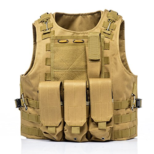 (Invenko Tactical Molle Airsoft Vest Paintball Combat Soft Vest)