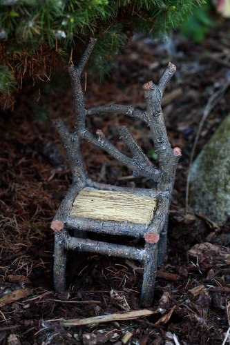 Top Collection Enchanted Story Garden Fairy Furniture Tall Wooden Chair Outdoor Decor