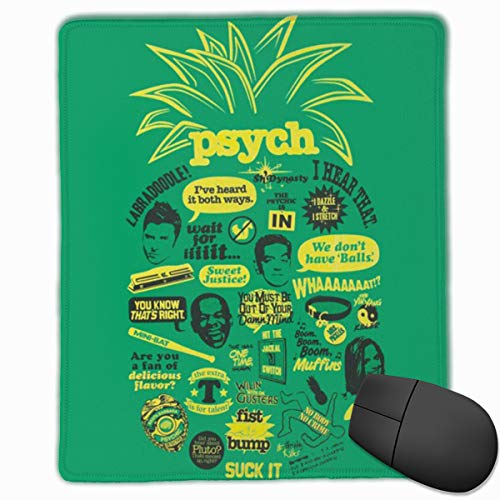Work Offic Mouse Pad Psych Pineapple Quote Mash Up Non-Slip Rubber Base for Computer Laptop 7 8.7 Inches -
